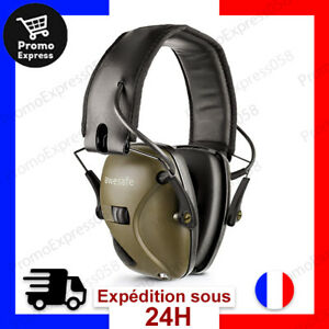 Casque de Tir Antibruit Electronique GF01 Réduction du bruit du Son Sécurité