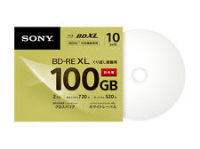 10 Sony Blu Ray BDXL Discs 100 GB BD-RE BDXL 3D Bluray Triple Layer Bluray Disc
