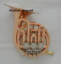 Professional Phosphorus Rose brass Mini French horn Bb piccolo One piece Bell