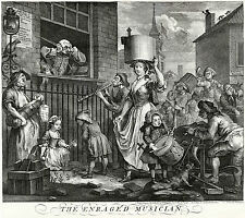 William Hogarth: Print Reproductions: The Enraged Musician:  Fine Art Print
