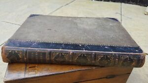 A Pilgrim's Progress A life of Bunyan 40 illustrations leather backed mid 1800s