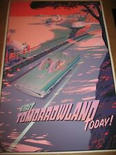 LAURENT DURIEUX POSTER VISIT TOMORROWLAND 2015 S/N VARIANT EDITION OF 100 DISNEY