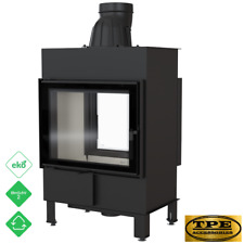 LUCY 12 Tunnel - Double Sided Fireplace Insert / Cassette Stove Wood Burner 12kw