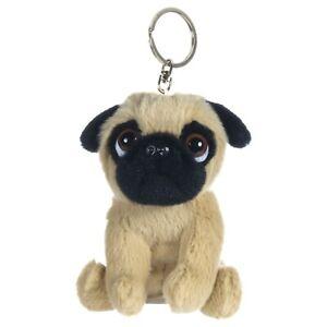 """1 x 4.5"""" Super Cute Pug Keychain, Soft Toy, Cute, Adorable, Key Ring, Key Chain."""