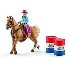 Action Figures & Statues Schleich North America Barrel Racing Cowgirl Playset