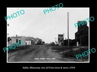 OLD LARGE HISTORIC PHOTO OF SABIN MINNESOTA, THE MAIN STREET & STORES c1910