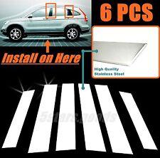 Stainless Steel Chrome Door Pillar Post Covers Trims For 2007-2011 Honda CR-V