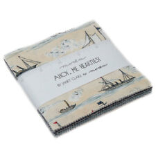 "Moda FABRIC Charm Pack ~ AHOY, ME HEARTIES! ~ by Janet Clare 42 - 5"" squares"