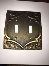 Vintage Amerock Monterey Toggle double Switch Cover Plate
