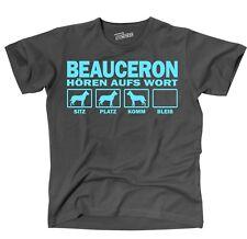 T-Shirt BEAUCERON HÖREN AUFS WORT Hund Hundemotiv Unisex