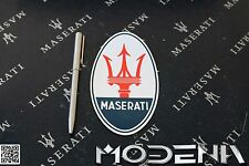 Emblema Maserati TRidente Adesivo stemma logo sticker badge DECAL OVALE 13 cm
