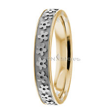 10K SOLID GOLD WOMENS WEDDING BANDS RINGS FLOWER WOMEN WEDDING BAND RING COMFORT