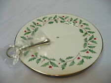 Lenox Serving Dish with gold handle New
