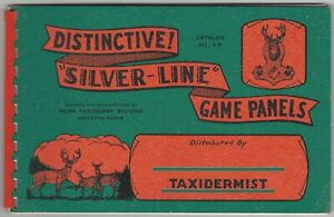 1941 Deer Hunter Trophy Silver-Line Game Panels for Taxidermists Counter Catalog