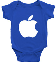 Infant Rib Bodysuit Clothes Newborn Outfit Boy Baby shower Gift Print Cute Apple