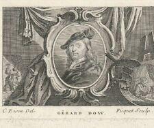 RARE GRAVURE ANCIENNE GERARD DOW par FICQUET 19 X 14 cm