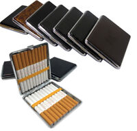 Kingsize Leather Cigarette Case Holder Metal Tin Box Large Size Holds Up To 20