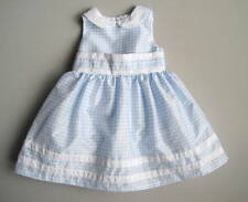 Gymboree EASTER CELEBRATIONS Girls 12 18 Mo Blue White Check Party Dress EUC