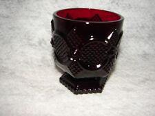 Vintage Cape Cod Red Avon Open Sugar Bowl ~ red glass sugar bowl