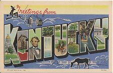 Greetings From Kentucky Large Letter Postcard #2