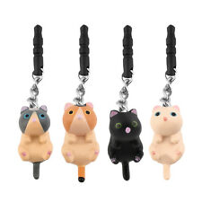 Cute Cat Hanging 3.5mm Anti Dust Earphone Jack Plug Stopper Cap For Phone HR