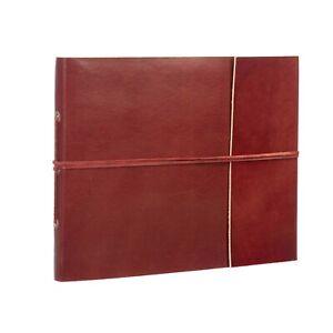Fair Trade Handmade Medium Leather Photo Album Scrapbook 2nd Quality