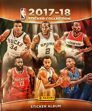 PaninI 2017 2018 NBA Basketball Sticker Collection - Blank New Album 2017/18