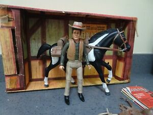 Vintage Palitoy Rare 1960s Bonanza Little Joe and his horse play set