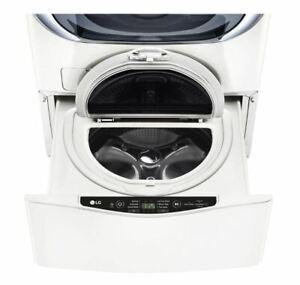 "LG 27"" 1.0 cu.ft. SideKick Pedestal Washer TWINWash Compatible in White WD100CW"