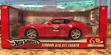 HOT WHEELS 1:18 MASS 60TH ANNIVERSARY - FERRARI 575 GTZ ZAGATO Diecast Car L2960