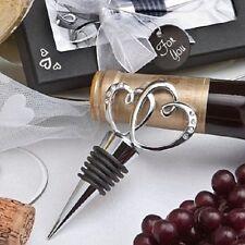 40 Chrome Interlocking  Heart Bottle Stopper  wedding favors Bridal Shower