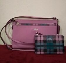 Coach East/West Crossbody Bag with Pop Up Pouch Lilac 22252 with wristlet