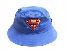 New Era Blue SUPERMAN Logo Kids / Youth Summer Bucket Hat Cap