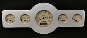 1946 1947 1948 Pontiac 5 Gauge Dash Panel Insert Programmable Speedometer Tan