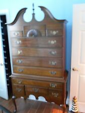 Queen Anne High Boy dresser.10 drawers Cherry wood.