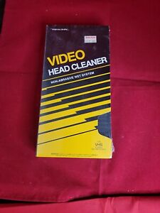 Sealed REALISTIC Video Head Cleaner NON-ABRASIVE WET SYSTEM VHS CASSETTE 44-1148