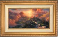 Thomas Kinkade The Cross 12 x 24 LE S/N Canvas (Gold Frame)