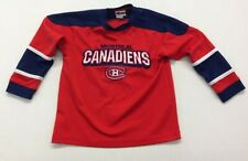 Montreal Canadiens Kids Size Small Red Blue V Neck Jersey