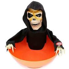 Snapping Sam Animated Halloween Candy Bowl Grim Reaper Novelty Fun Prop