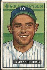 1951 Bowman #2 Yogi Berra Yankees HOF VG Centered L - R on Front