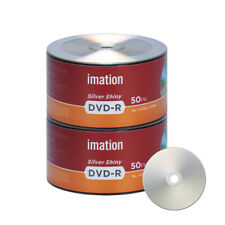 100 Pack Imation DVD-R 16X 4.7GB/120Min Silver Shiny Blank Media Recordable Disc