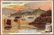 Golfo De Petchili China Asia veleros allí c1903 Tarjeta de anuncios comerciales