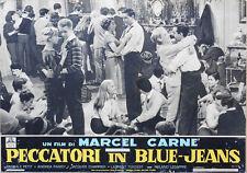 FOTOBUSTA, PECCATORI IN BLUE-JEANS, PETIT, BELMONDO, TERZIEFF, MARCEL CARNE'