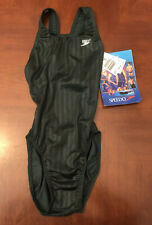 Speedo Womens Aquablade Record Breaker Swimsuit Size 30 Green