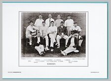 CRICKET  -  UNMOUNTED CRICKET TEAM PRINT - SOMERSET - 1895