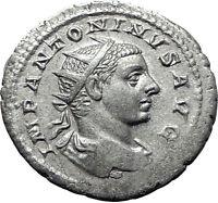 Elagabalus 218AD Authentic Silver Ancient Roman Coin Providentia i61496