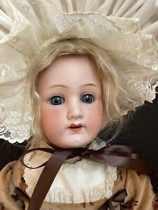 "Antique German 22"" Heubach Koppelsdorf 250 Bisque Head Doll Wood/Comp Body"