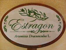 Kräuterschild Pflanzschild Emaille Estragon 30cm