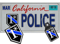 California Law Enforcement NOVELTY License Plate, Decal, Key Ring Combo