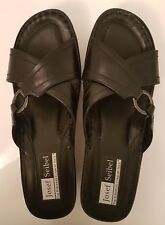 JOSEF SEIBEL EURO COMFORT SUMMER SANDALS BLACK SEMI WEDGE SIZE 40 NEW RRP $149-
